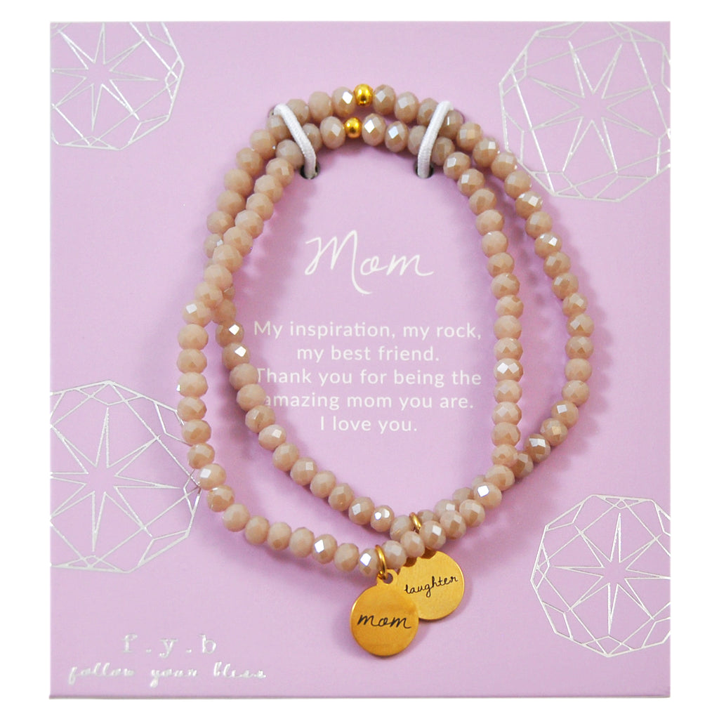 Taupe Crystal Mom & Daughter Set