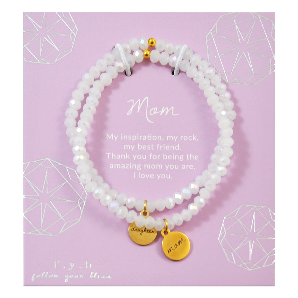 White Crystal Mom & Daughter Set
