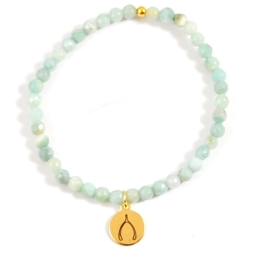 MINI AMAZONITE GOOD WISHES - eff.Y.bee