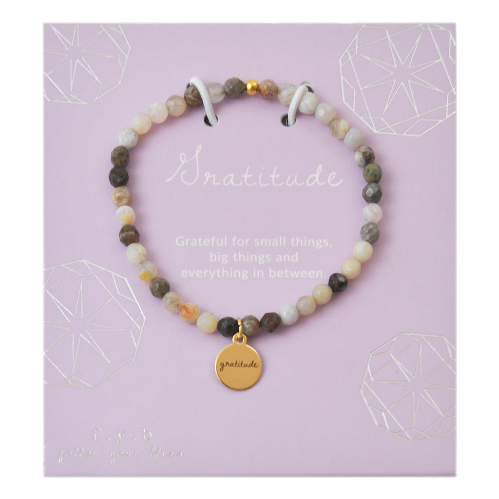 MINI FLOWER AGATE GRATITUDE - eff.Y.bee