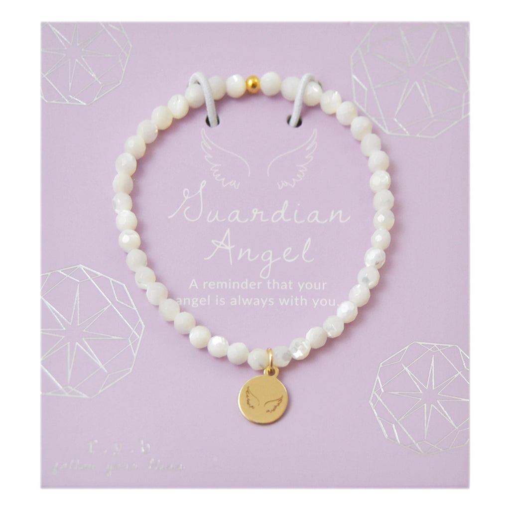 MINI MOTHER OF PEARL GUARDIAN ANGEL - eff.Y.bee