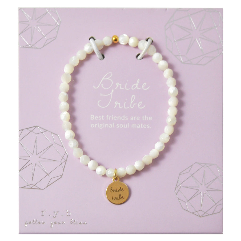 MINI MOTHER OF PEARL BRIDE TRIBE - eff.Y.bee