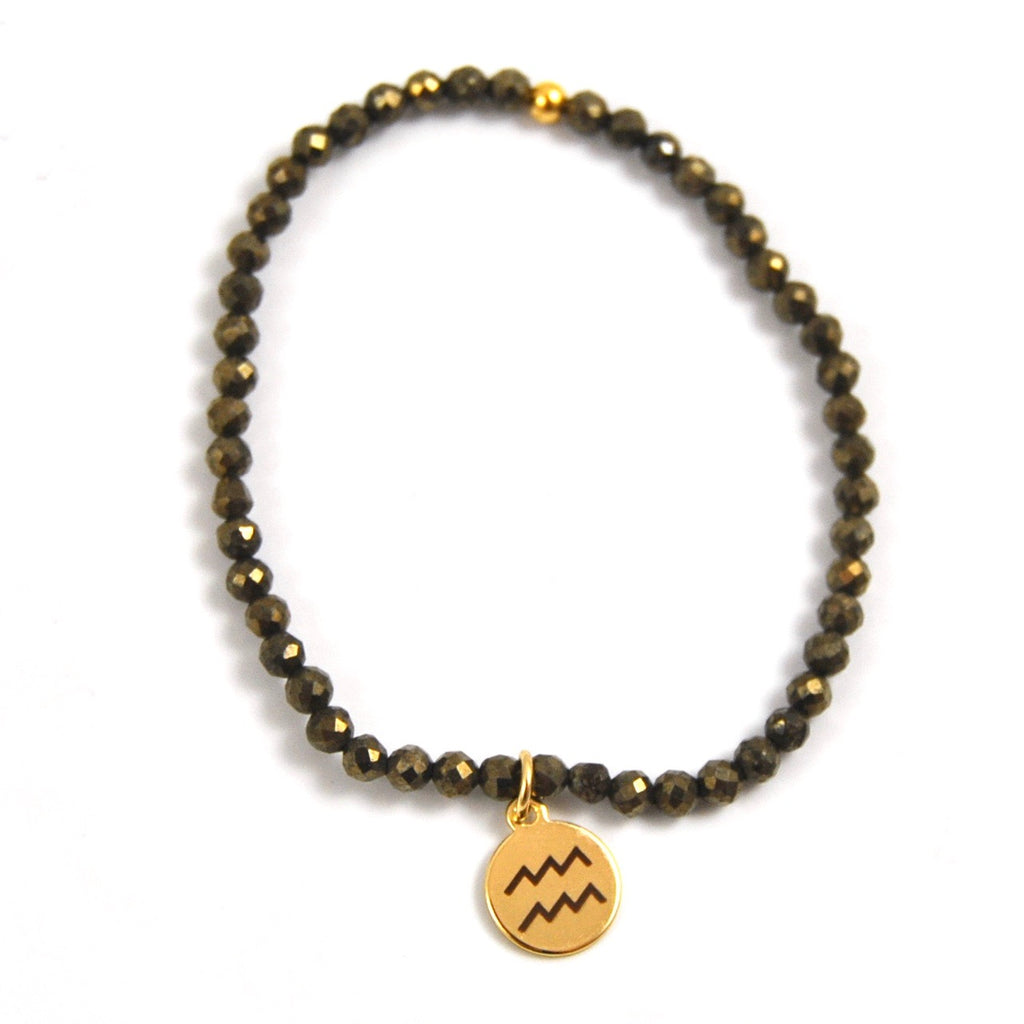 MINI PYRITE AQUARIUS BRACELET - eff.Y.bee
