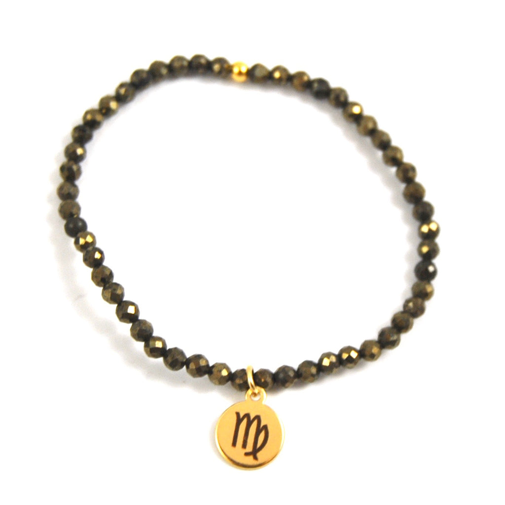 MINI PYRITE VIRGO BRACELET - eff.Y.bee
