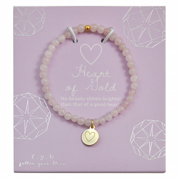 MINI ROSE QUARTZ HEART - eff.Y.bee