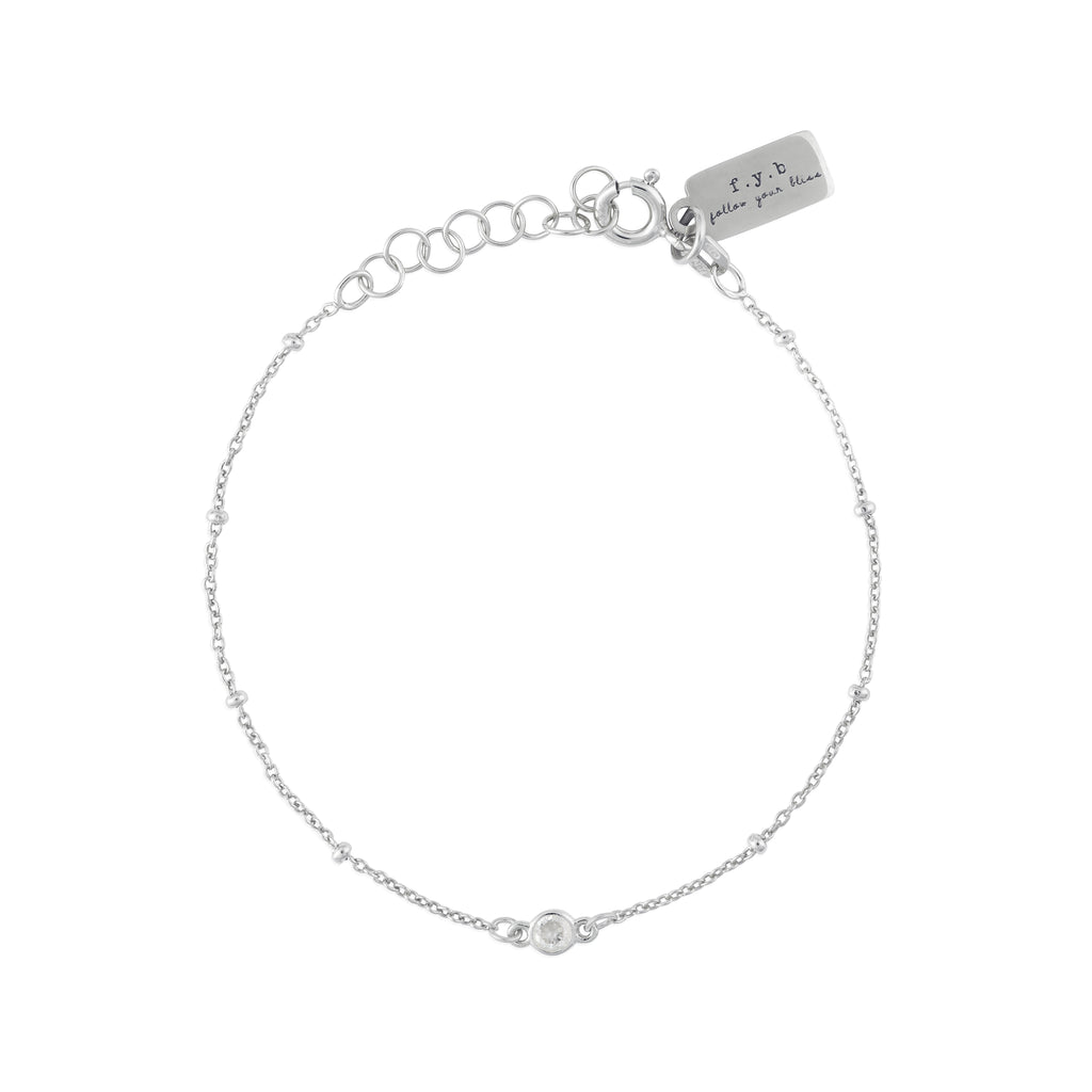 APRIL BIRTHSTONE BRACELET SILVER