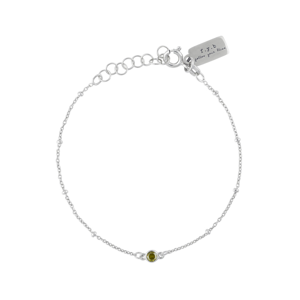 AUGUST BIRTHSTONE BRACELET SILVER