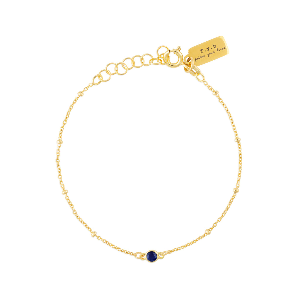 SEPTEMBER BIRTHSTONE BRACELET GOLD