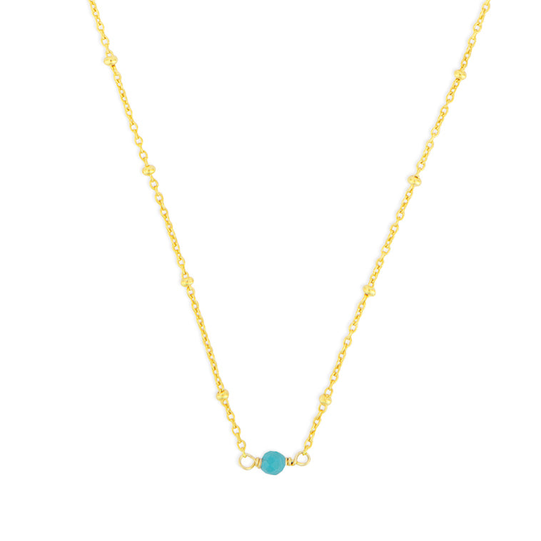 DECEMBER BIRTHSTONE NECKLACE GOLD