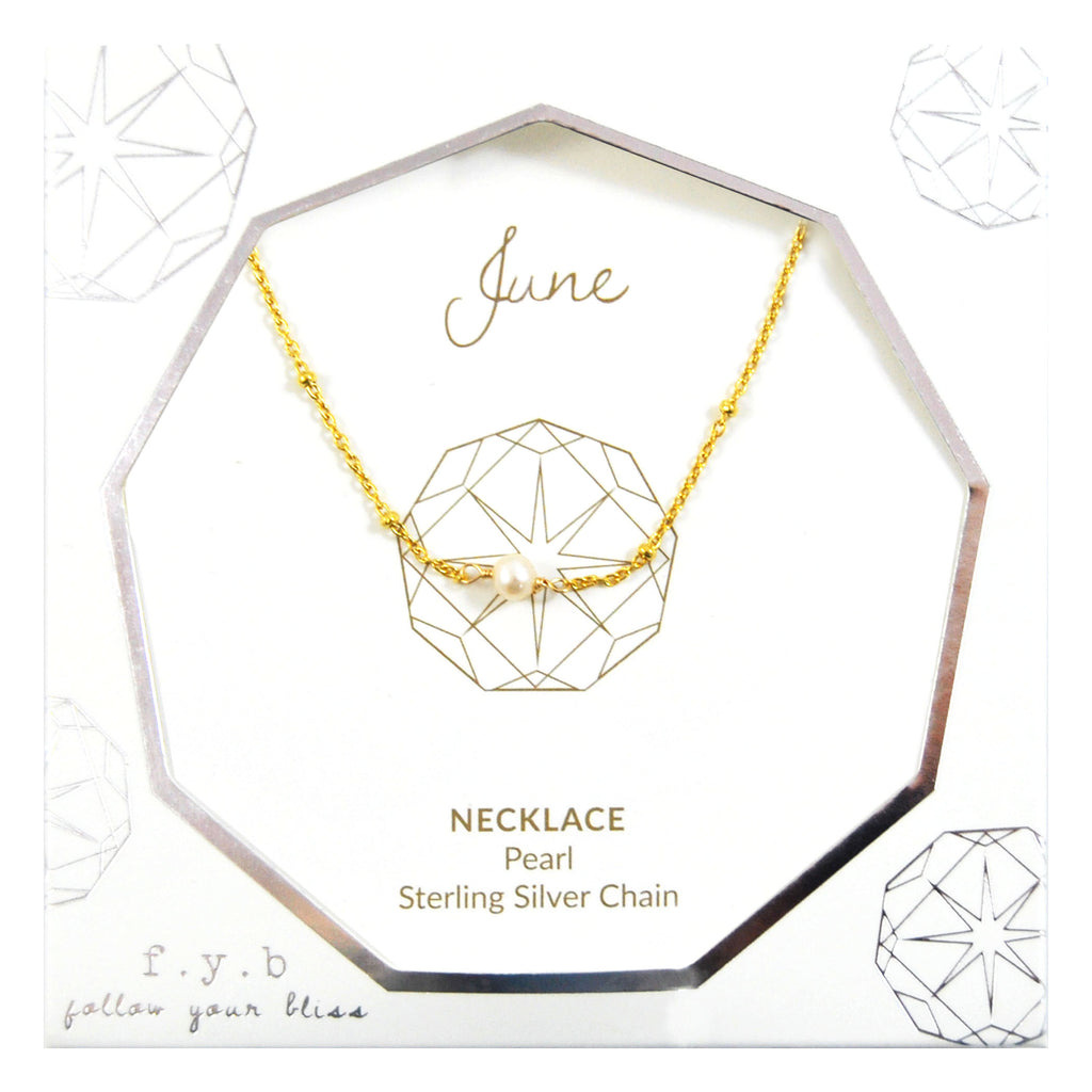 JUNE BIRTHSTONE NECKLACE GOLD
