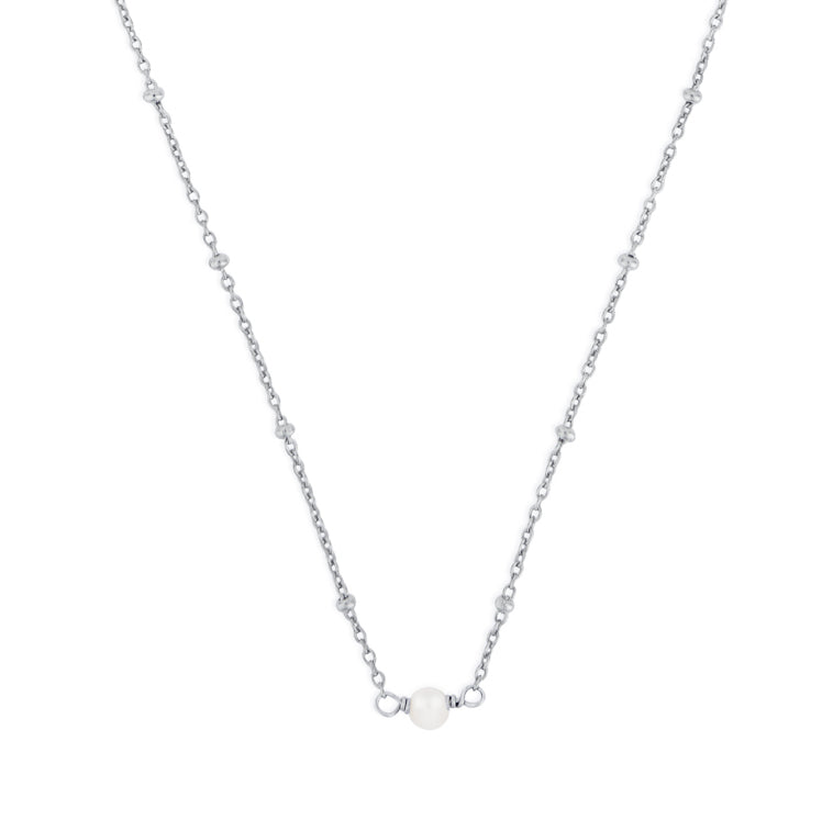 JUNE BIRTHSTONE NECKLACE SILVER