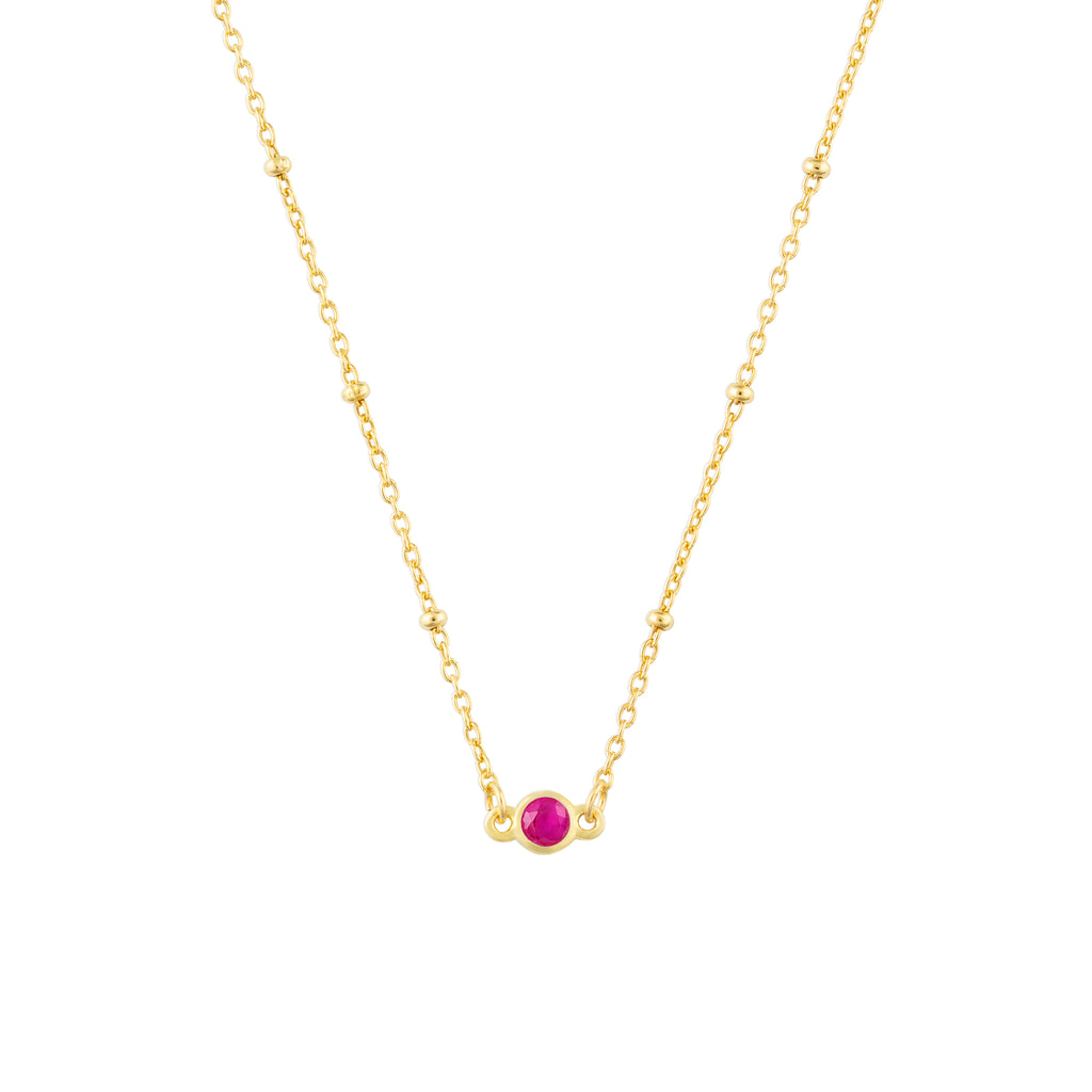 JULY BIRTHSTONE NECKLACE GOLD