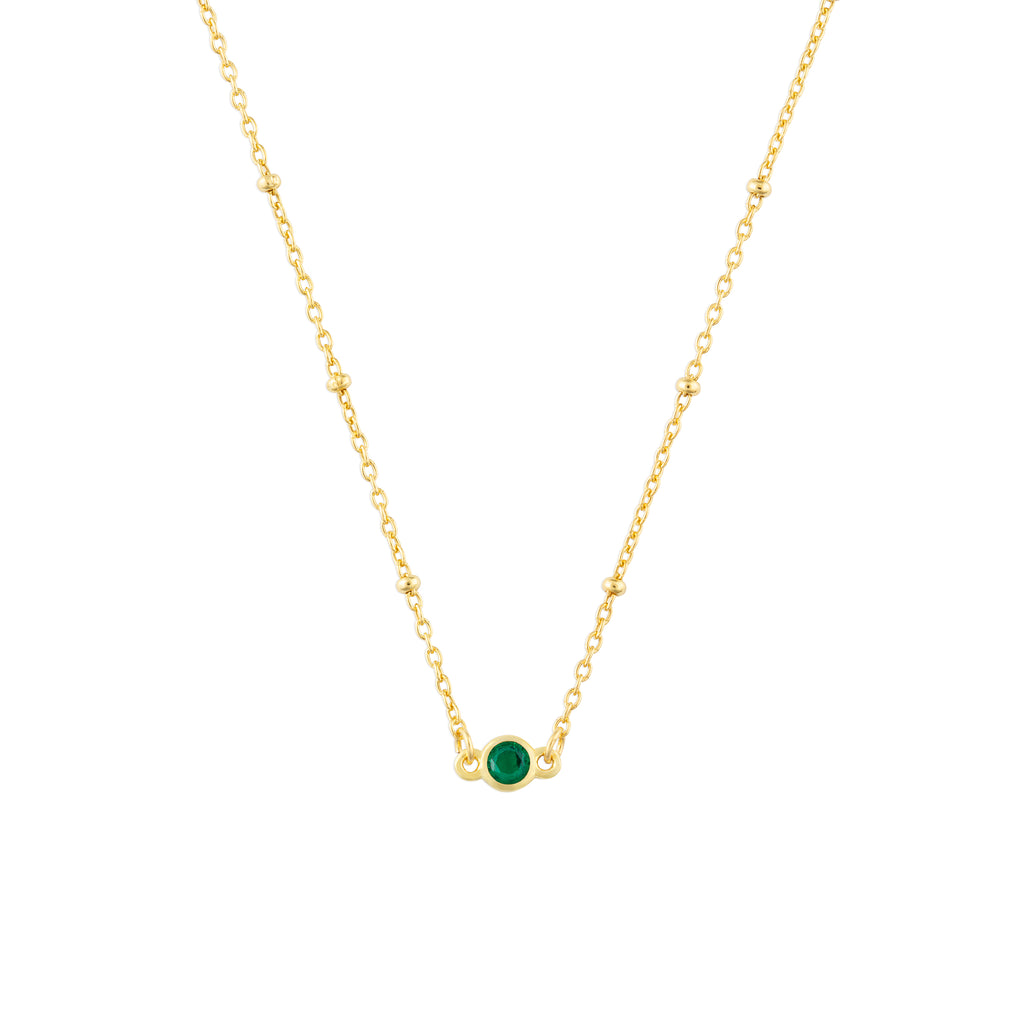 MAY BIRTHSTONE NECKLACE GOLD