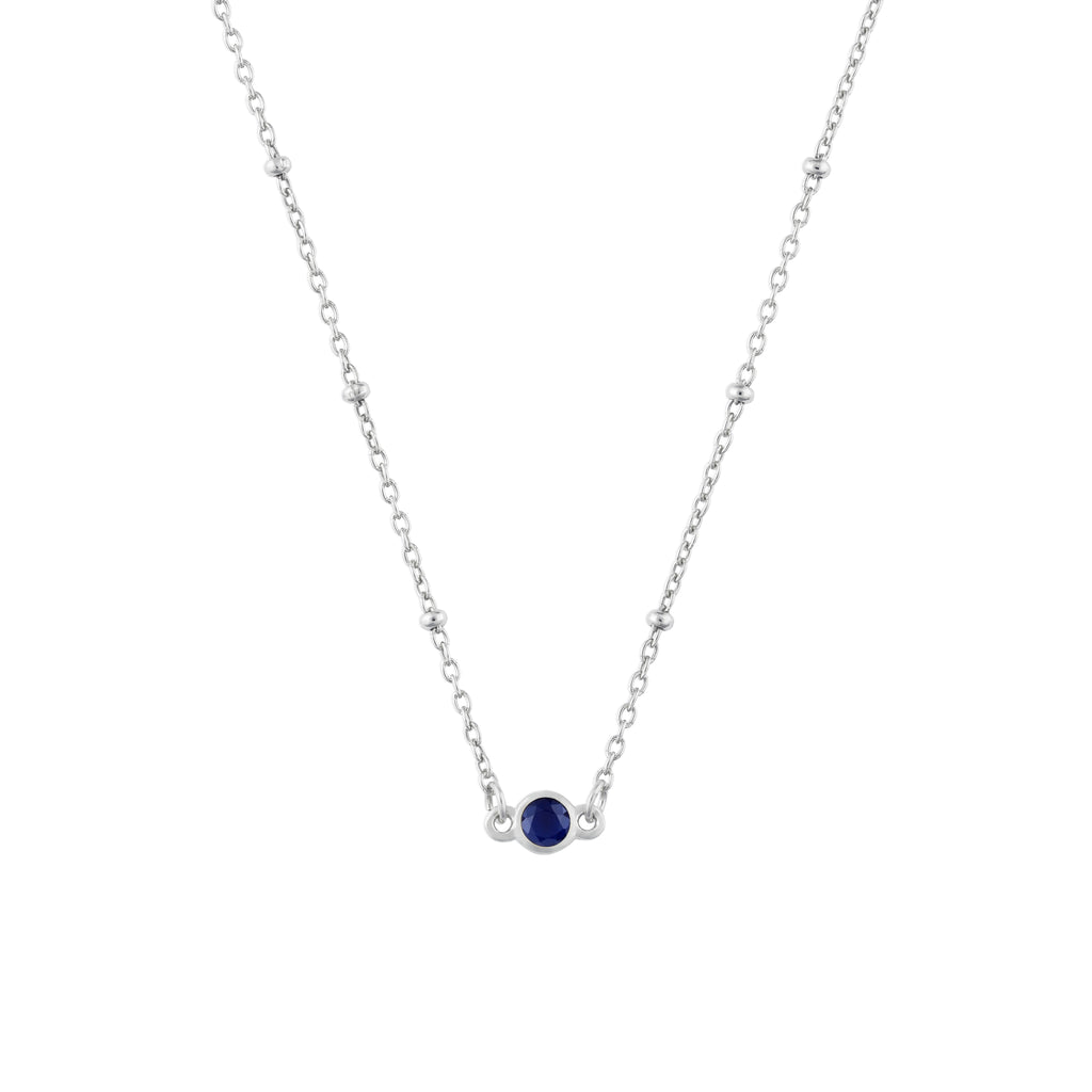 SEPTEMBER BIRTHSTONE NECKLACE SILVER