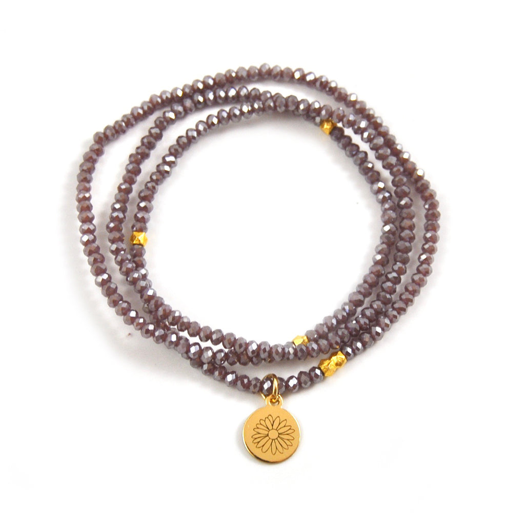 CRYSTAL WRAP BRACELET PURPLE WILDFLOWER - eff.Y.bee