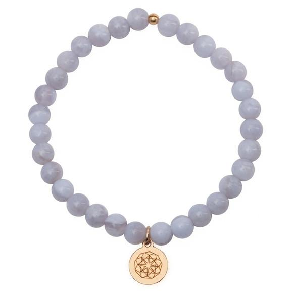 Customize Your Charm - Blue Lace Agate Hope Bliss Bracelet
