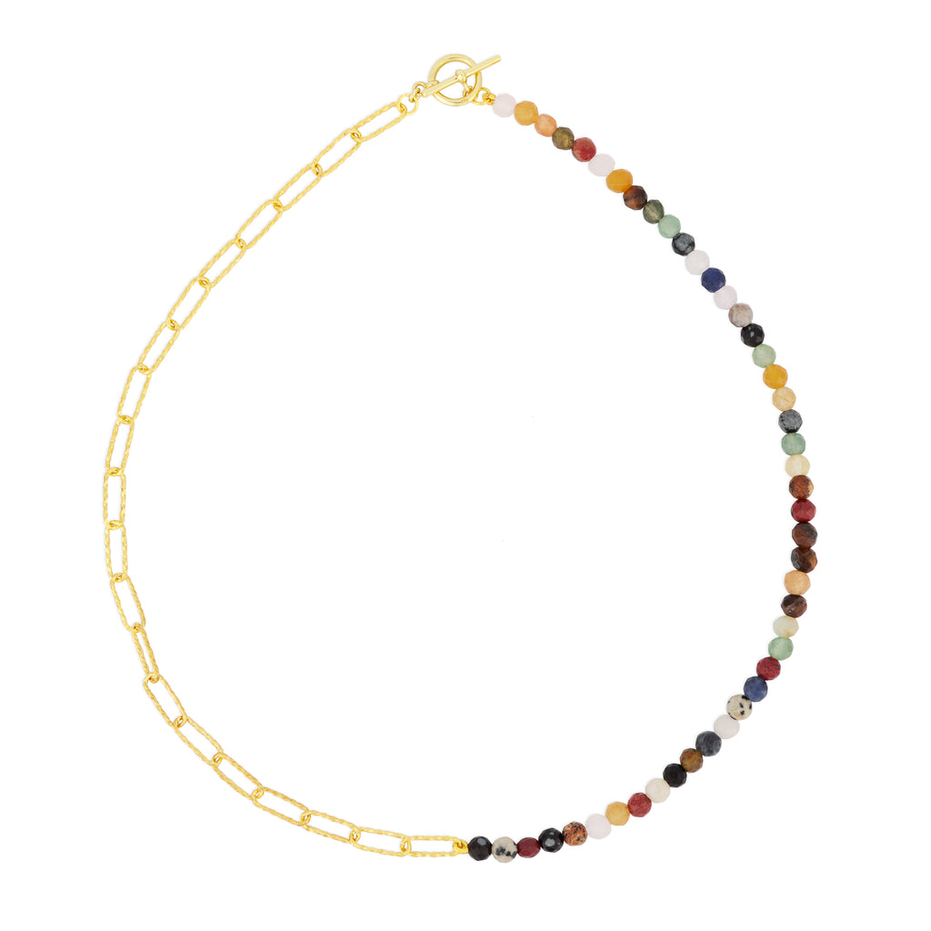 CELESTE CHAIN NECKLACE MULTI STONE