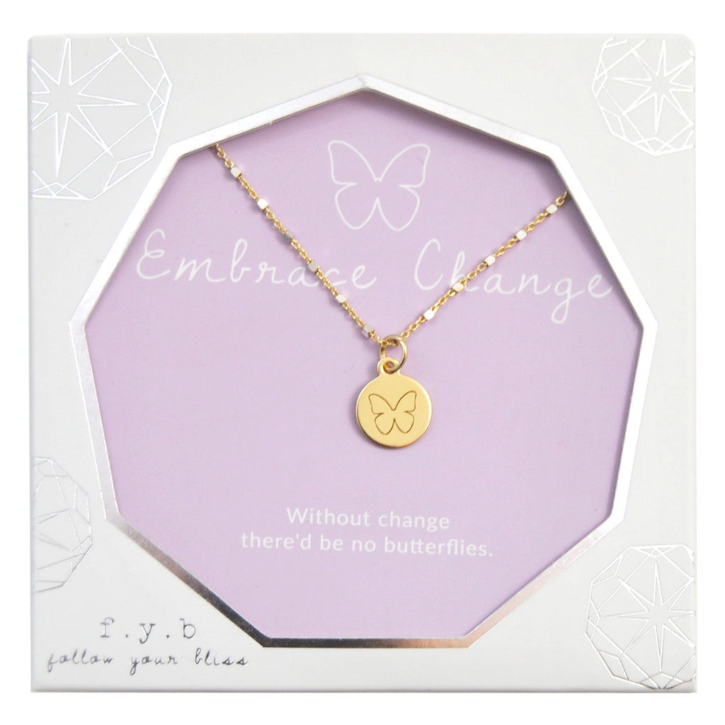 SHIMMER CHARM NECKLACE EMBRACE CHANGE - eff.Y.bee