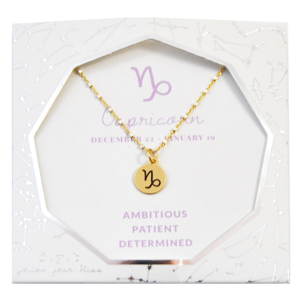 Capricorn Charm Necklace - eff.Y.bee