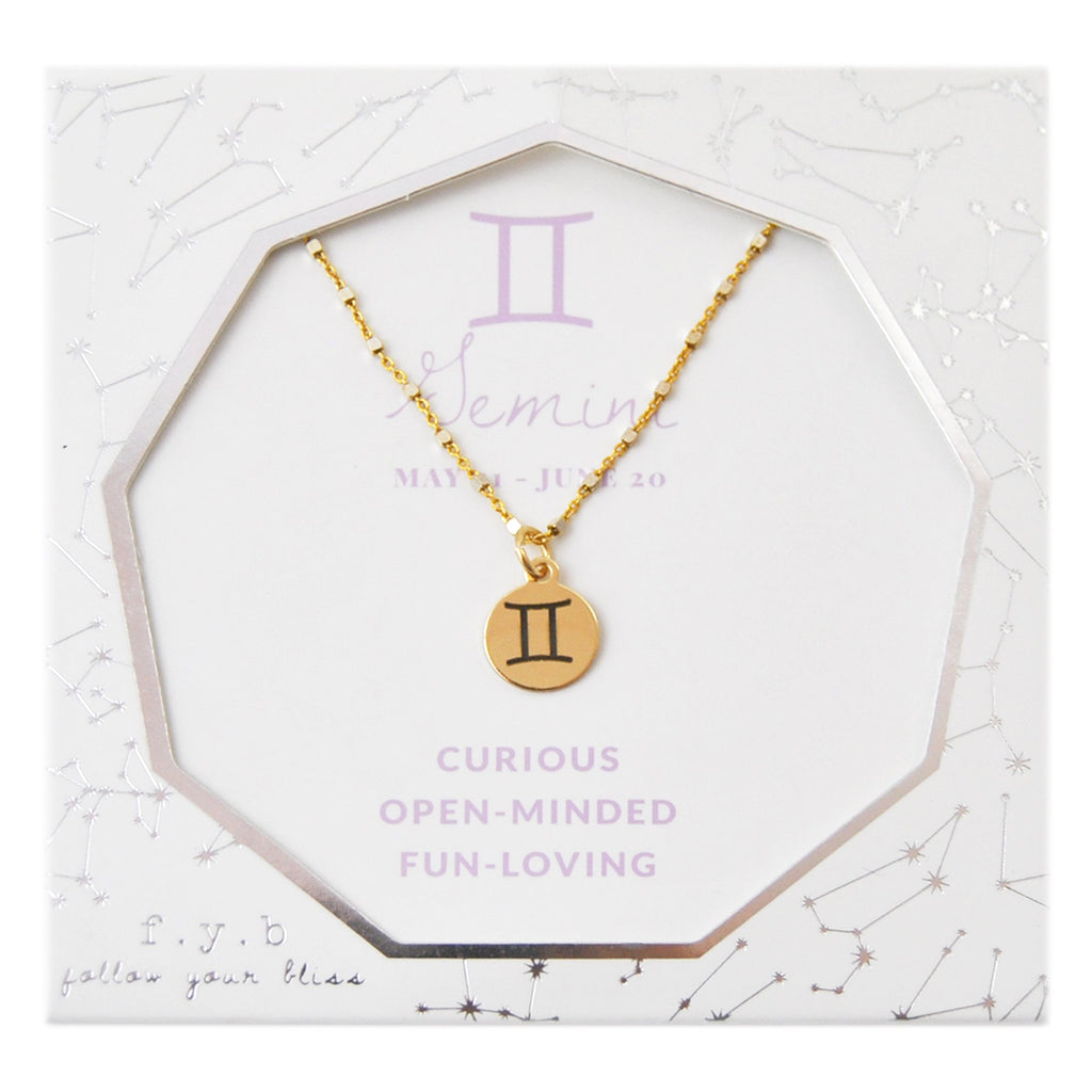 Gemini Charm Necklace - eff.Y.bee