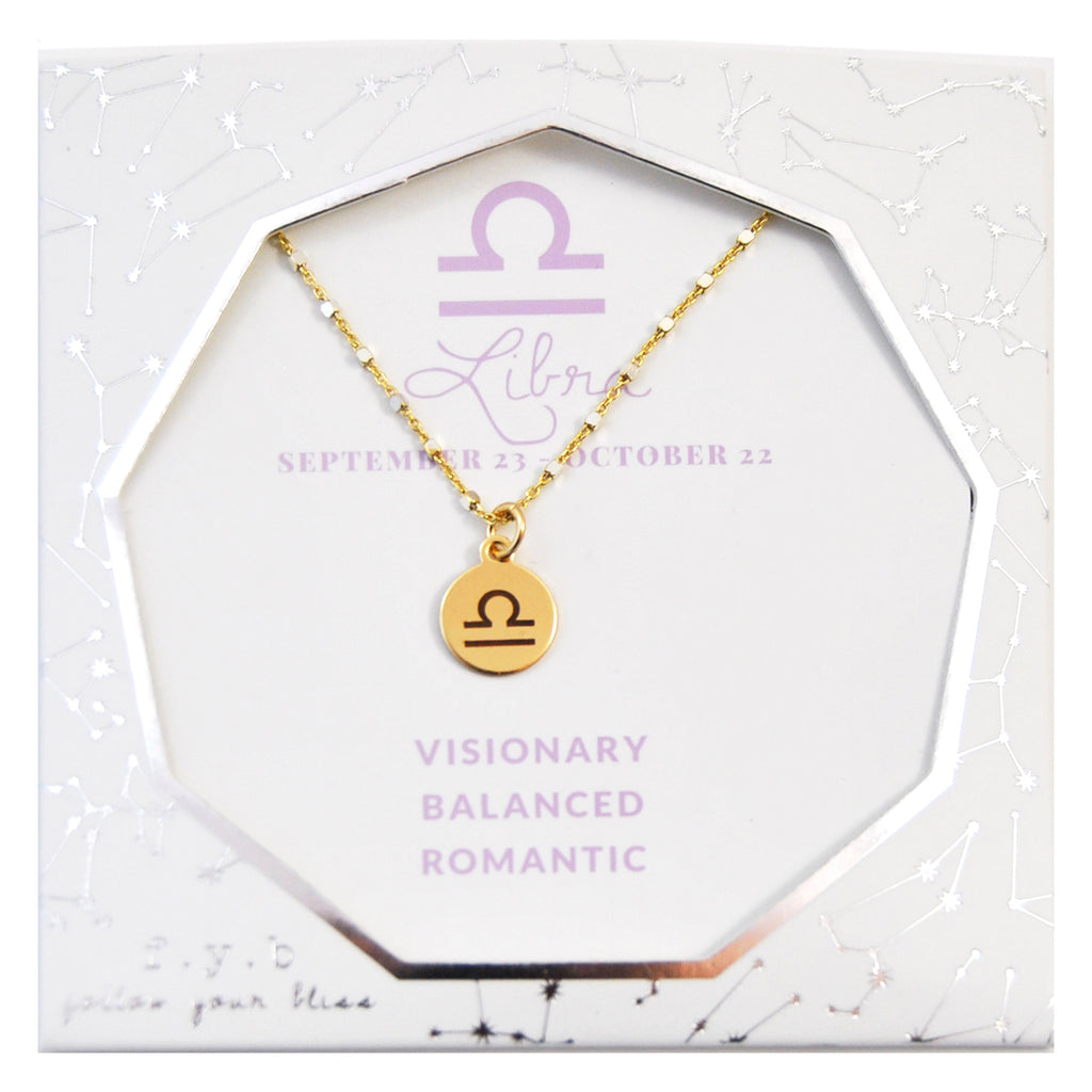 Libra Charm Necklace - eff.Y.bee