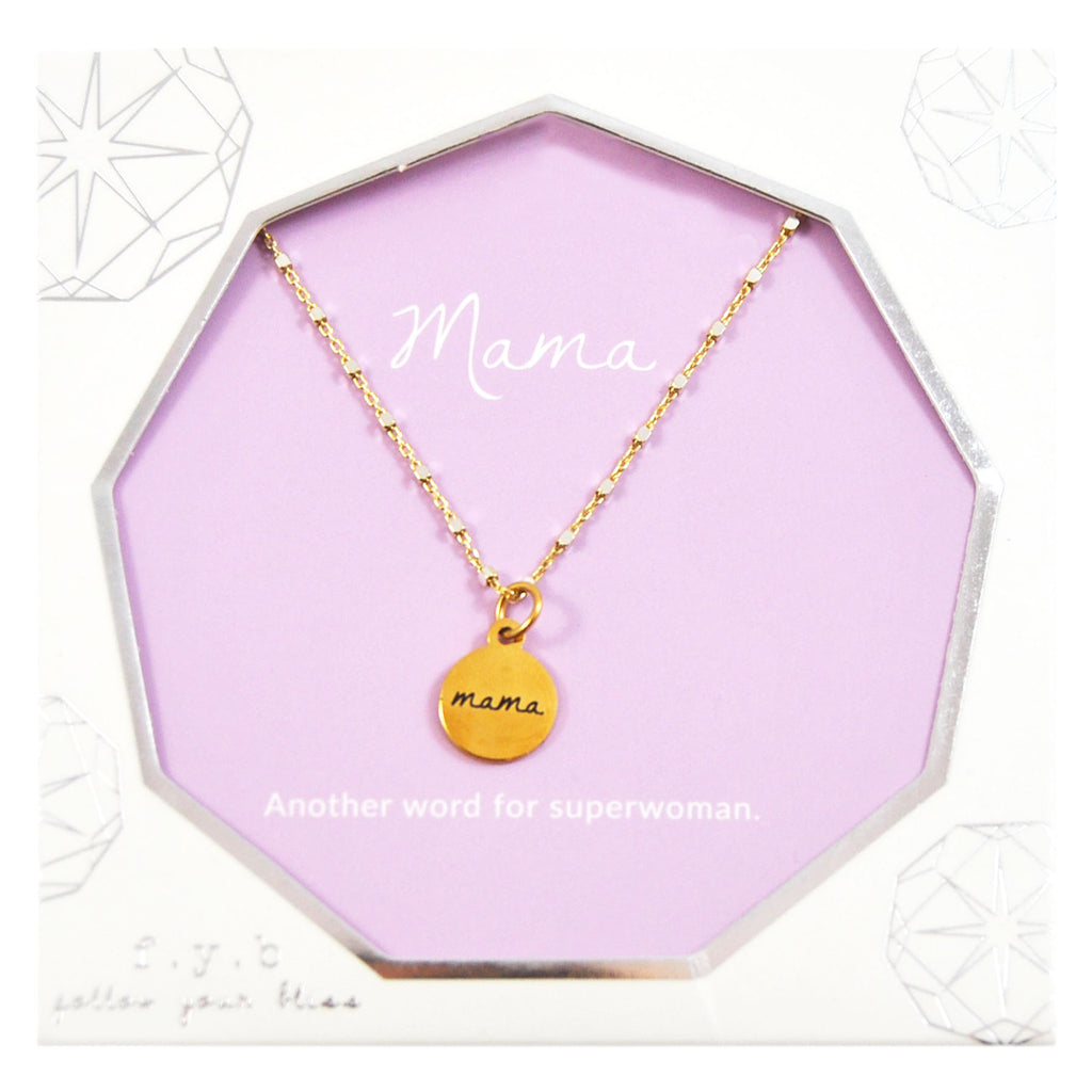 SHIMMER CHARM NECKLACE MAMA