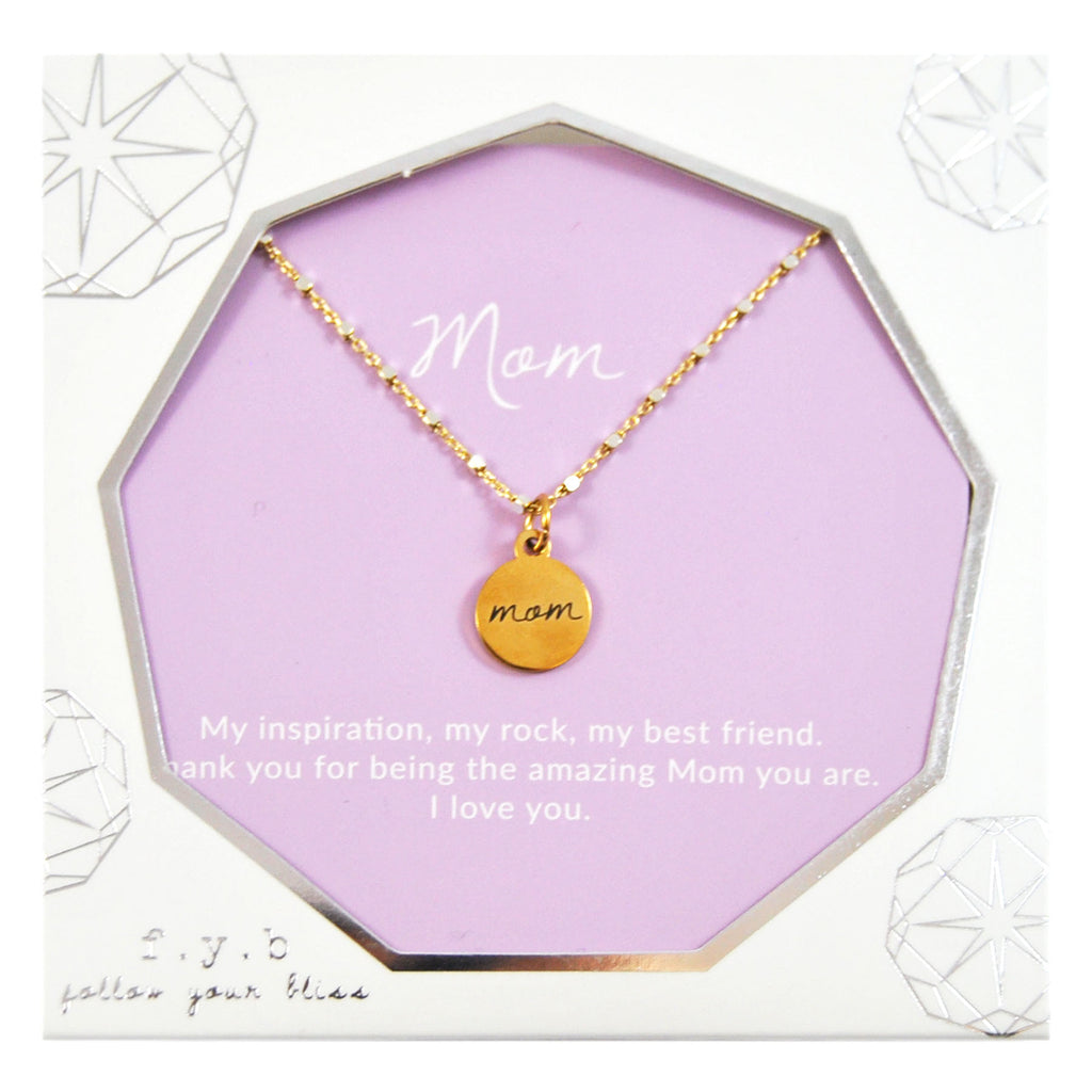 SHIMMER CHARM NECKLACE MOM
