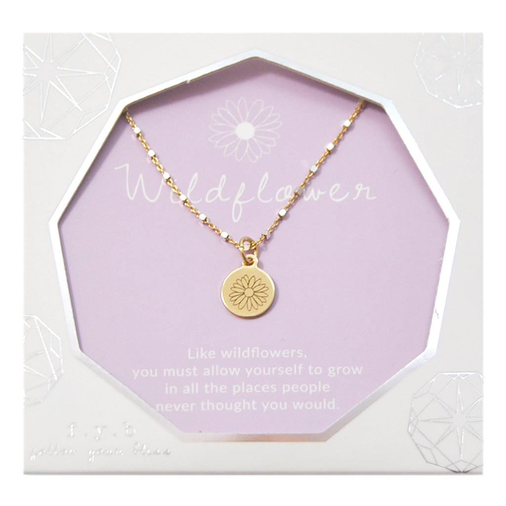 SHIMMER CHARM NECKLACE WILDFLOWER - eff.Y.bee