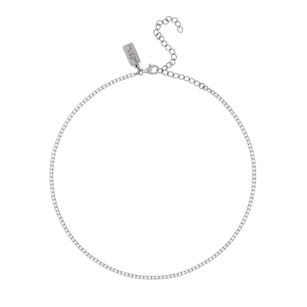DIANA CHOKER NECKLACE SILVER