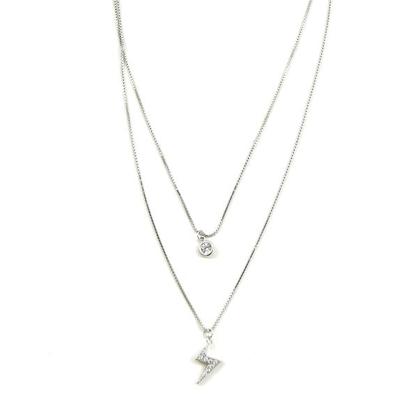 LILY LAYER NECKLACE POWERFUL SILVER - eff.Y.bee