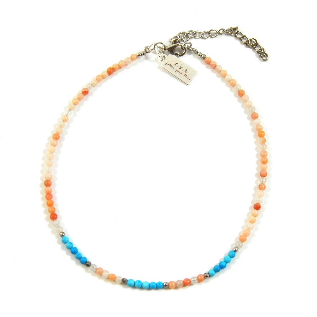 PEACH SEED BEAD ANKLET