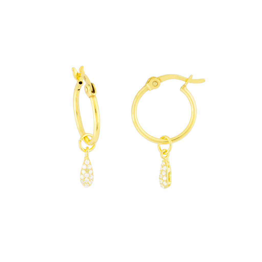 KAIA HOOP EARRINGS GOLD CZ