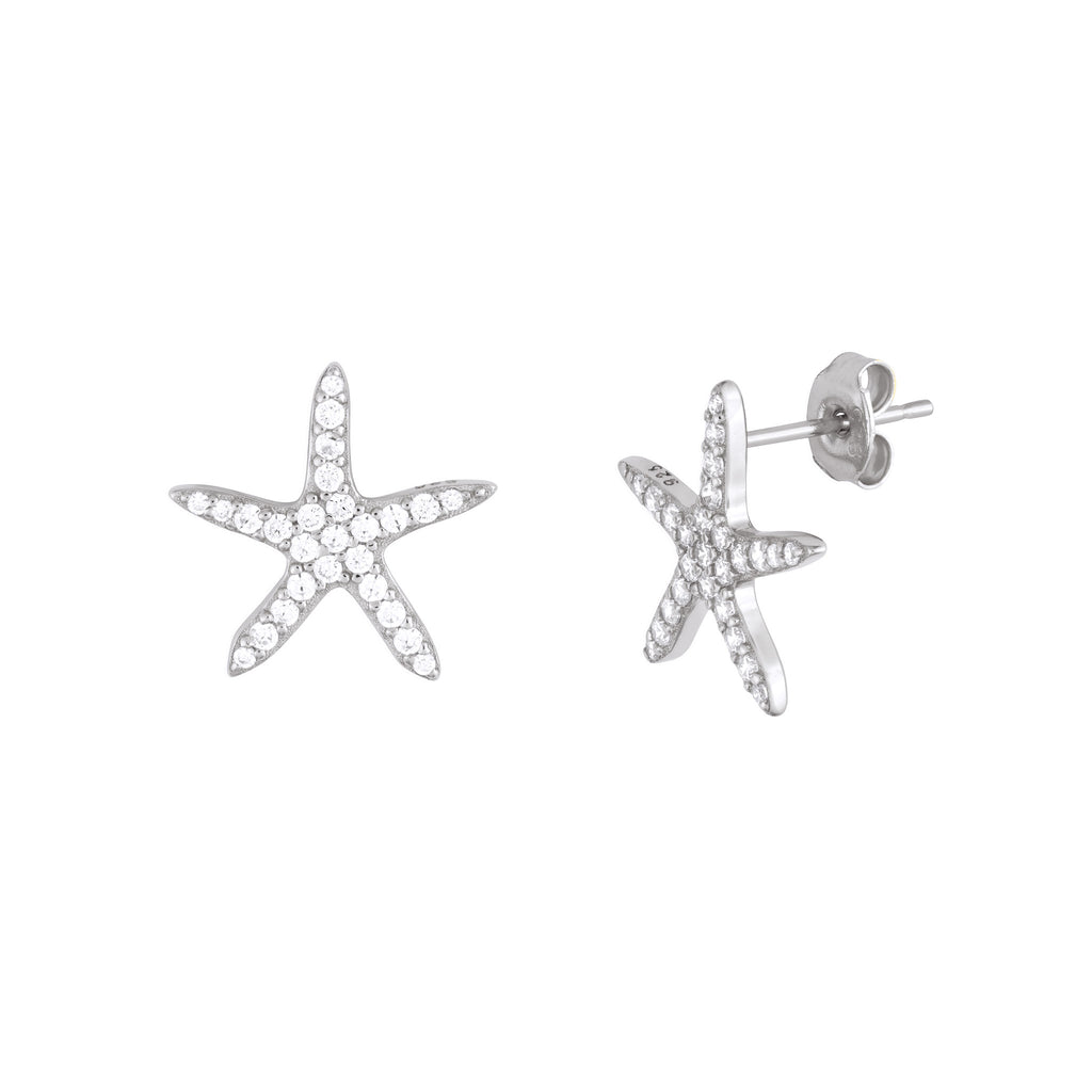 STATEMENT STARFISH STUDS SILVER