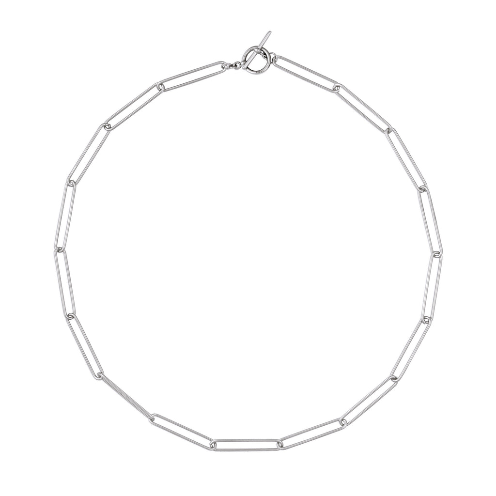 ELLA CHAIN LINK NECKLACE SILVER
