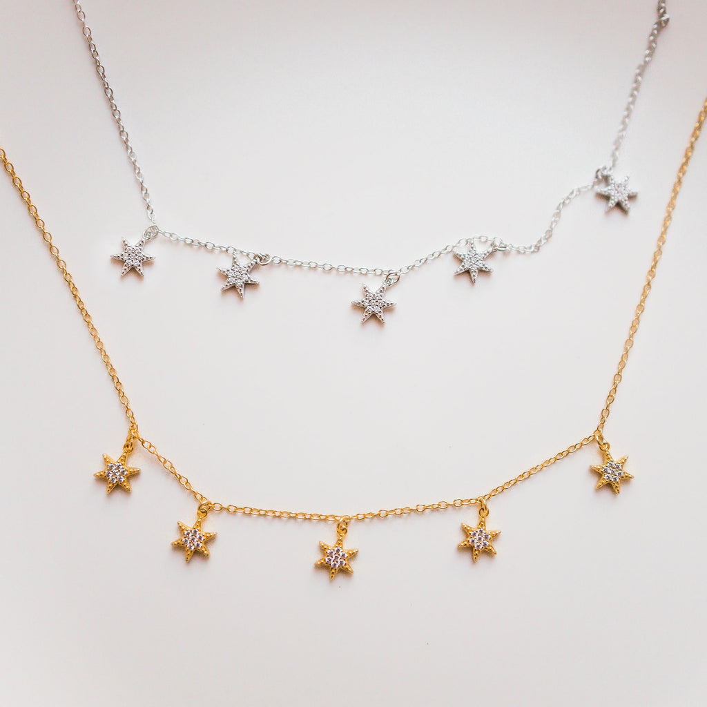SUKI STARBURST NECKLACE GOLD