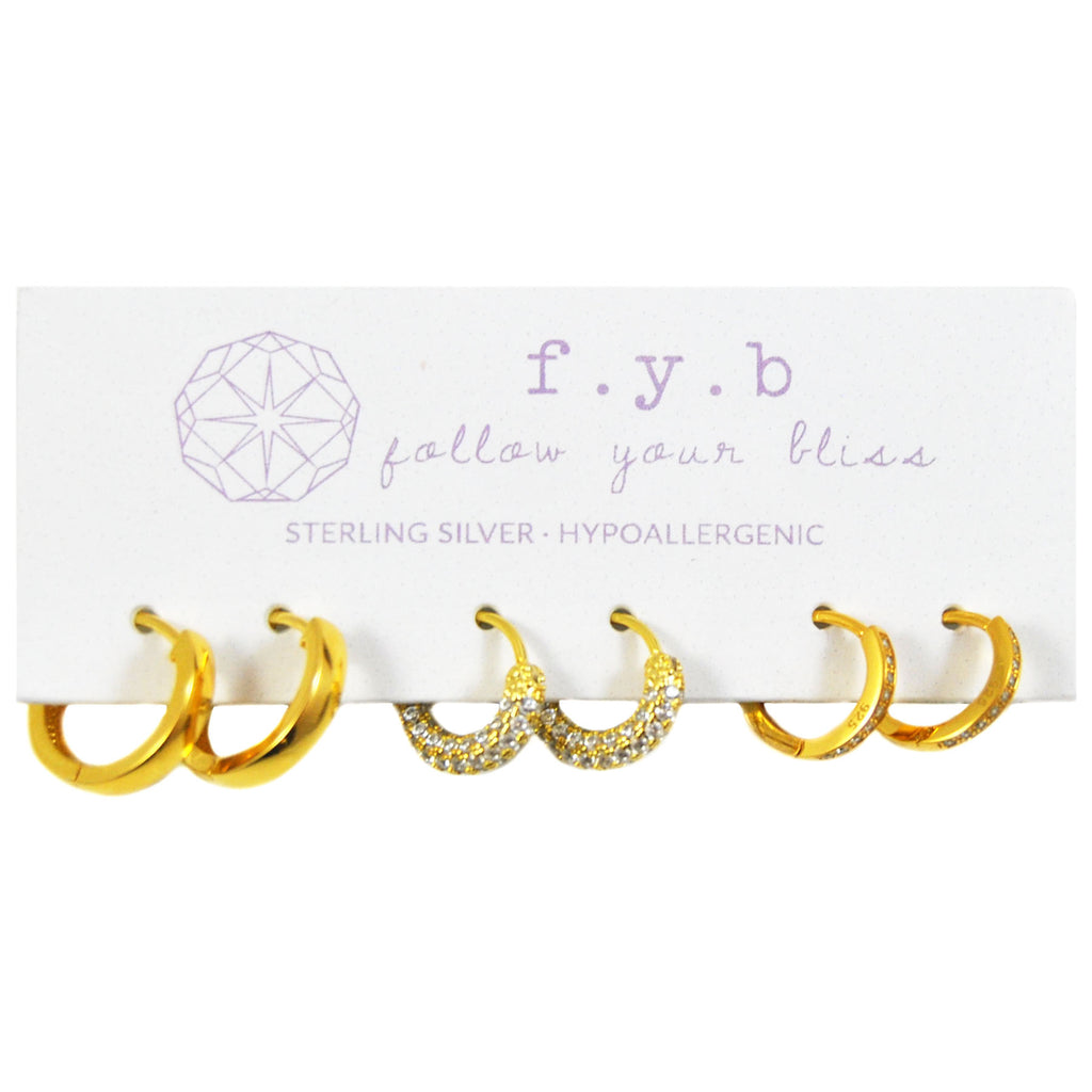THE CHLOE EARRING SET GOLD