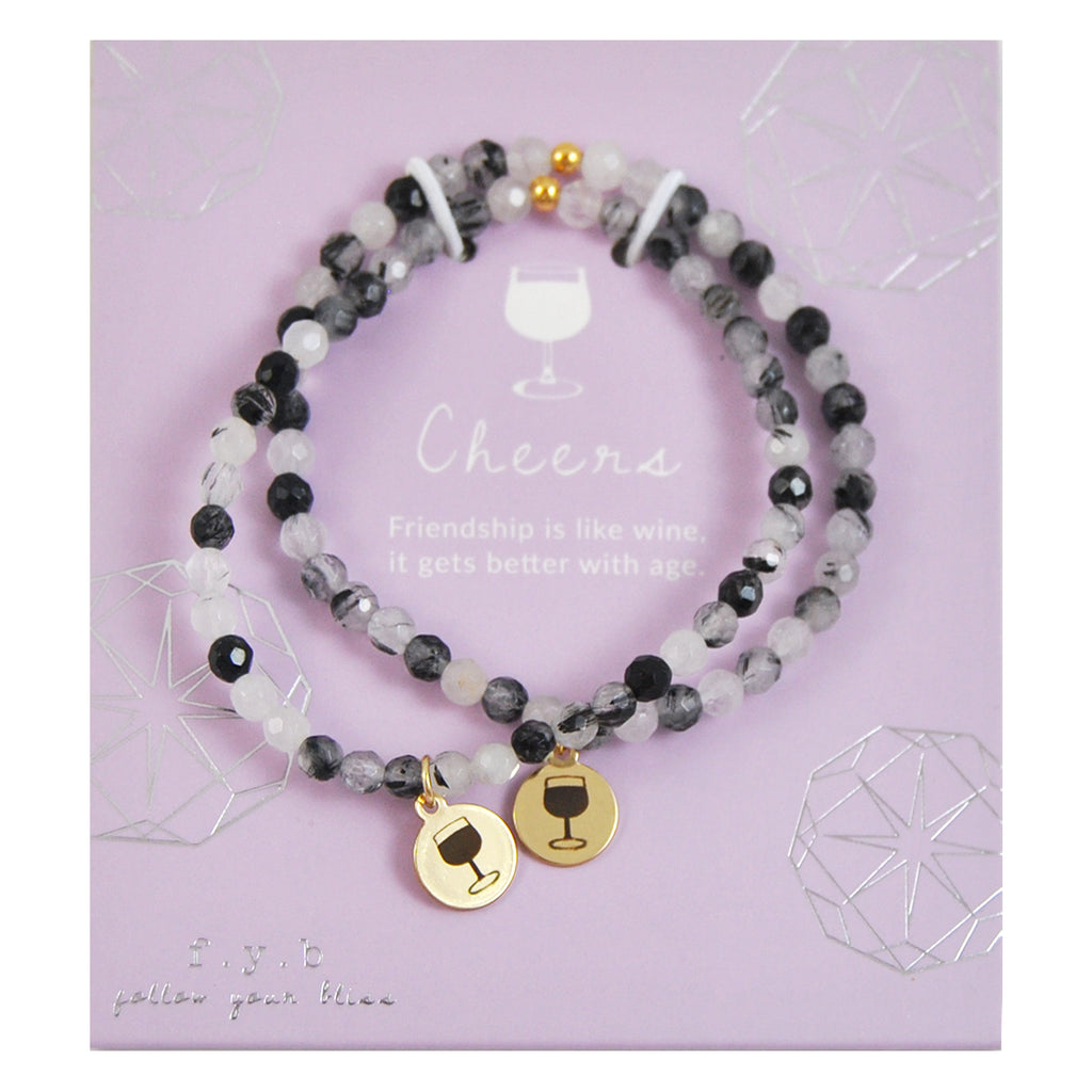 MINI BLACK QUARTZ CHEERS SET - eff.Y.bee
