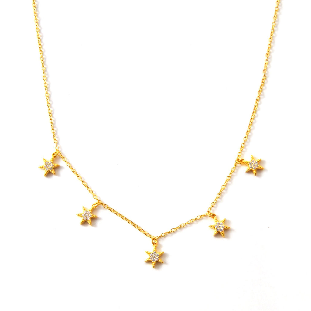 SUKI STARBURST NECKLACE GOLD - eff.Y.bee