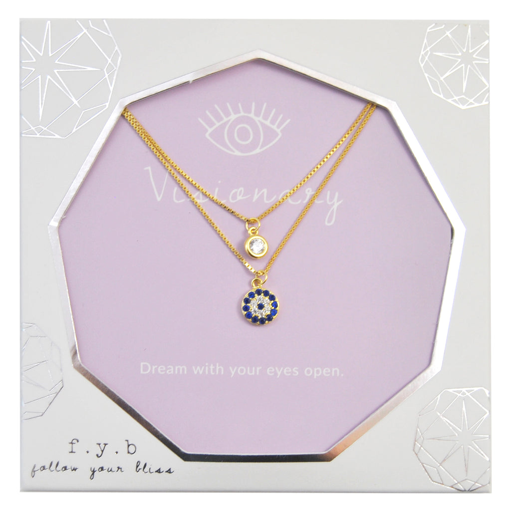 LILY LAYER NECKLACE VISIONARY GOLD - eff.Y.bee