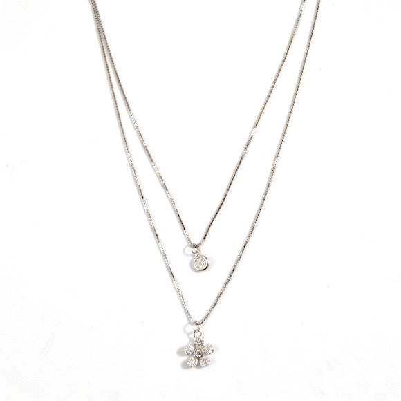 Lily Layer Necklace Wildflower Silver - eff.Y.bee