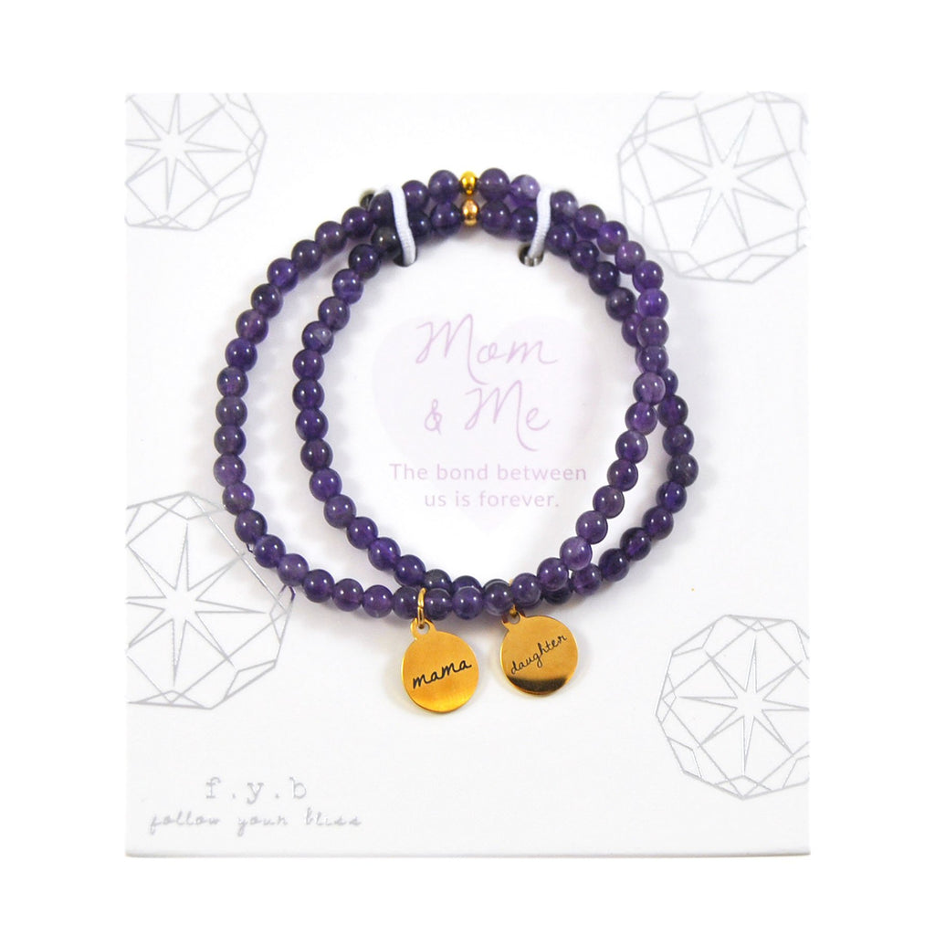 AMETHYST MOM & ME BRACELET SET