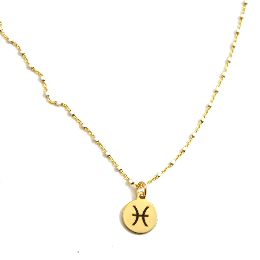 PISCES CHARM NECKLACE - eff.Y.bee