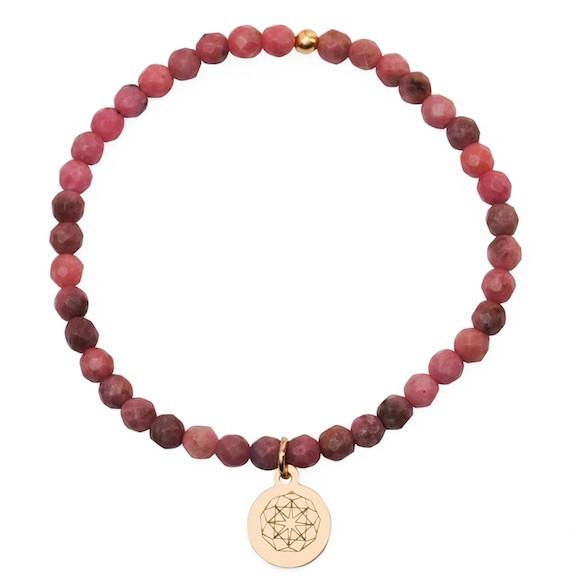 Customize Your Charm - Mini Rhodonite Self-love Bliss Bracelet - eff.Y.bee