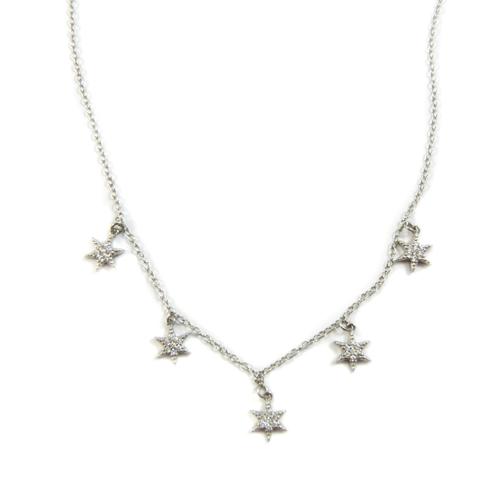 STARBURST SHAKER NECKLACE SILVER