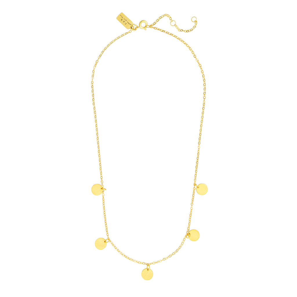 SUKI STATEMENT COIN NECKLACE GOLD