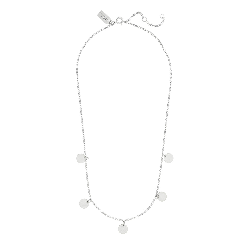 SUKI STATEMENT COIN NECKLACE SILVER