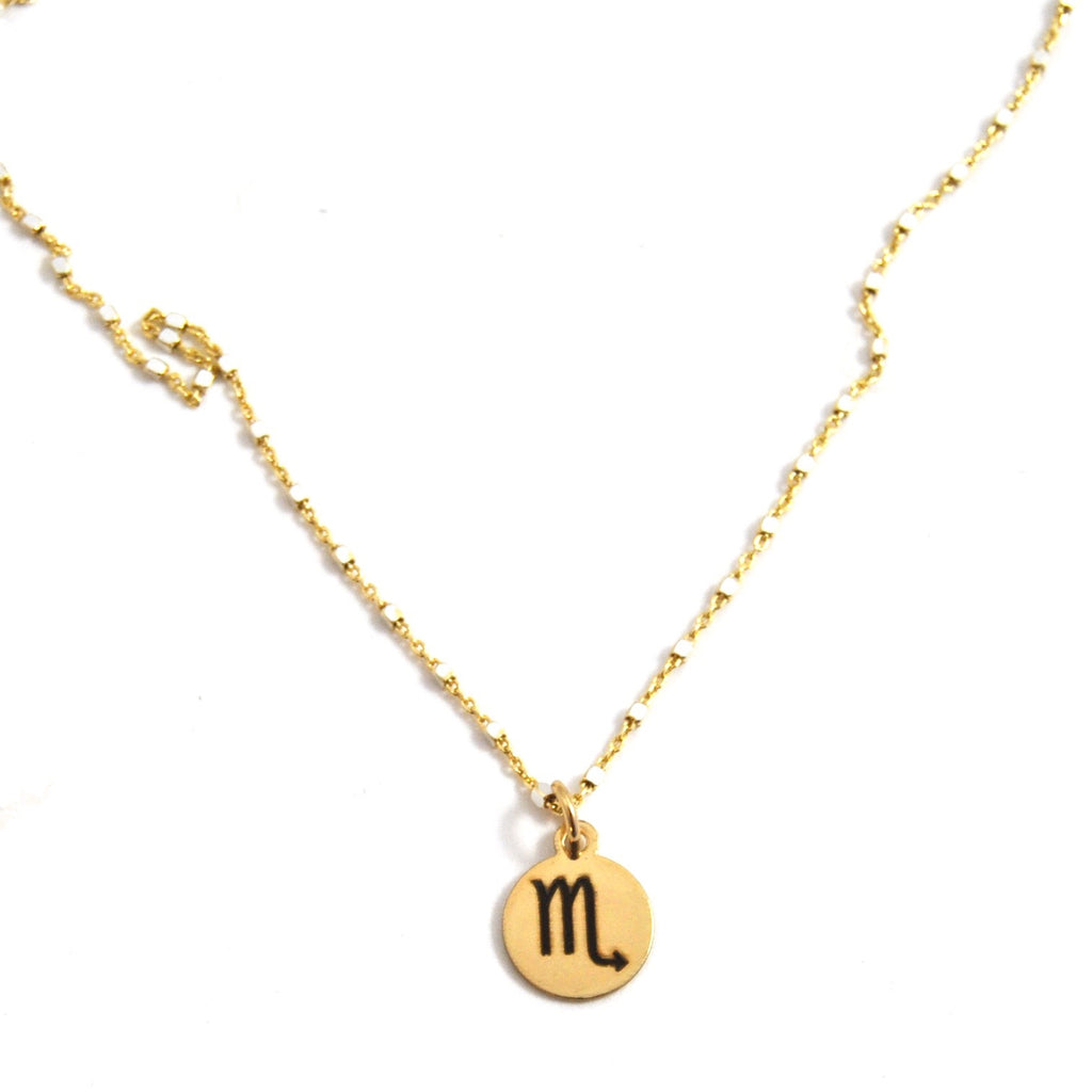 SCORPIO CHARM NECKLACE - eff.Y.bee