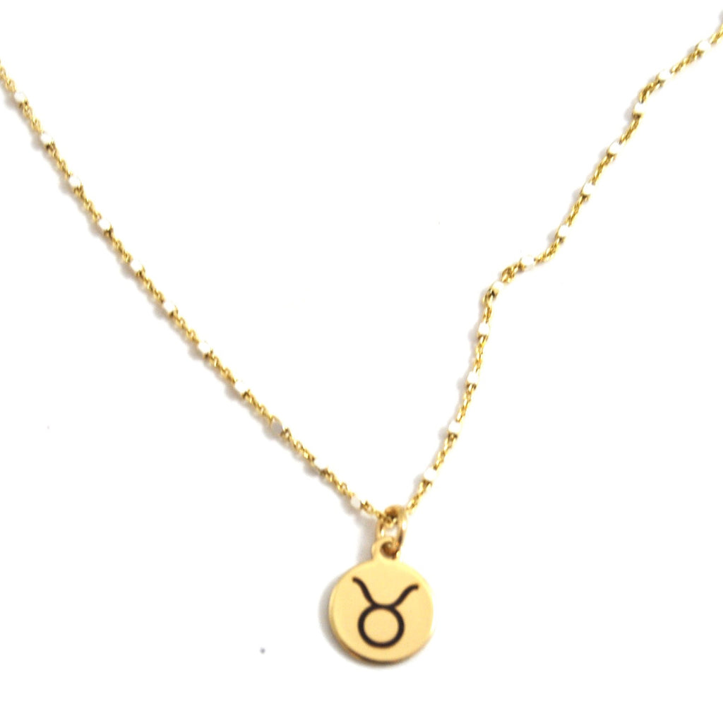 TAURUS CHARM NECKLACE - eff.Y.bee