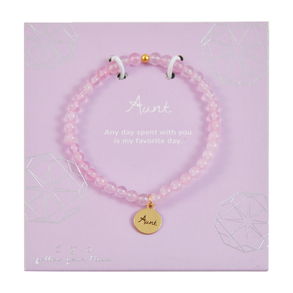 MINI ROSE QUARTZ AUNT - eff.Y.bee