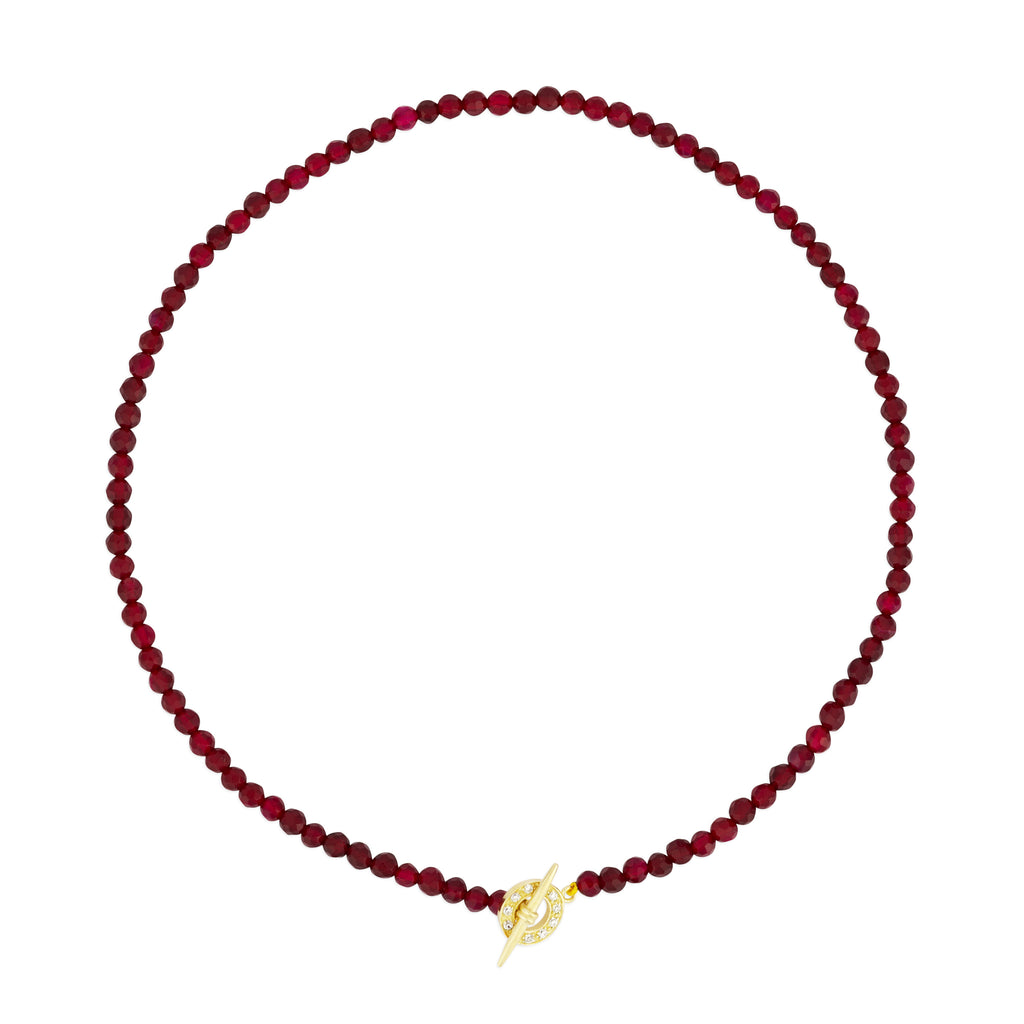 MILA NECKLACE FUCHSIA AGATE